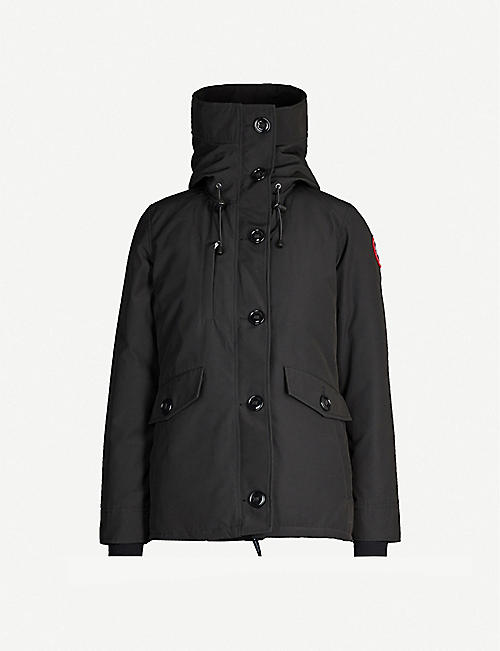 CANADA GOOSE: Rideau hooded shell-down jacket