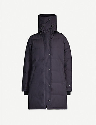 CANADA GOOSE: Shelburne hooded quilted shell-down jacket