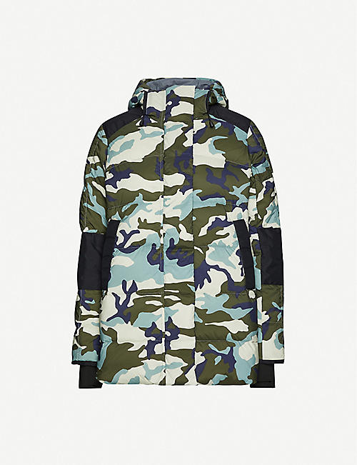 CANADA GOOSE Alliston brand-patch drawstring-hood shell jacket