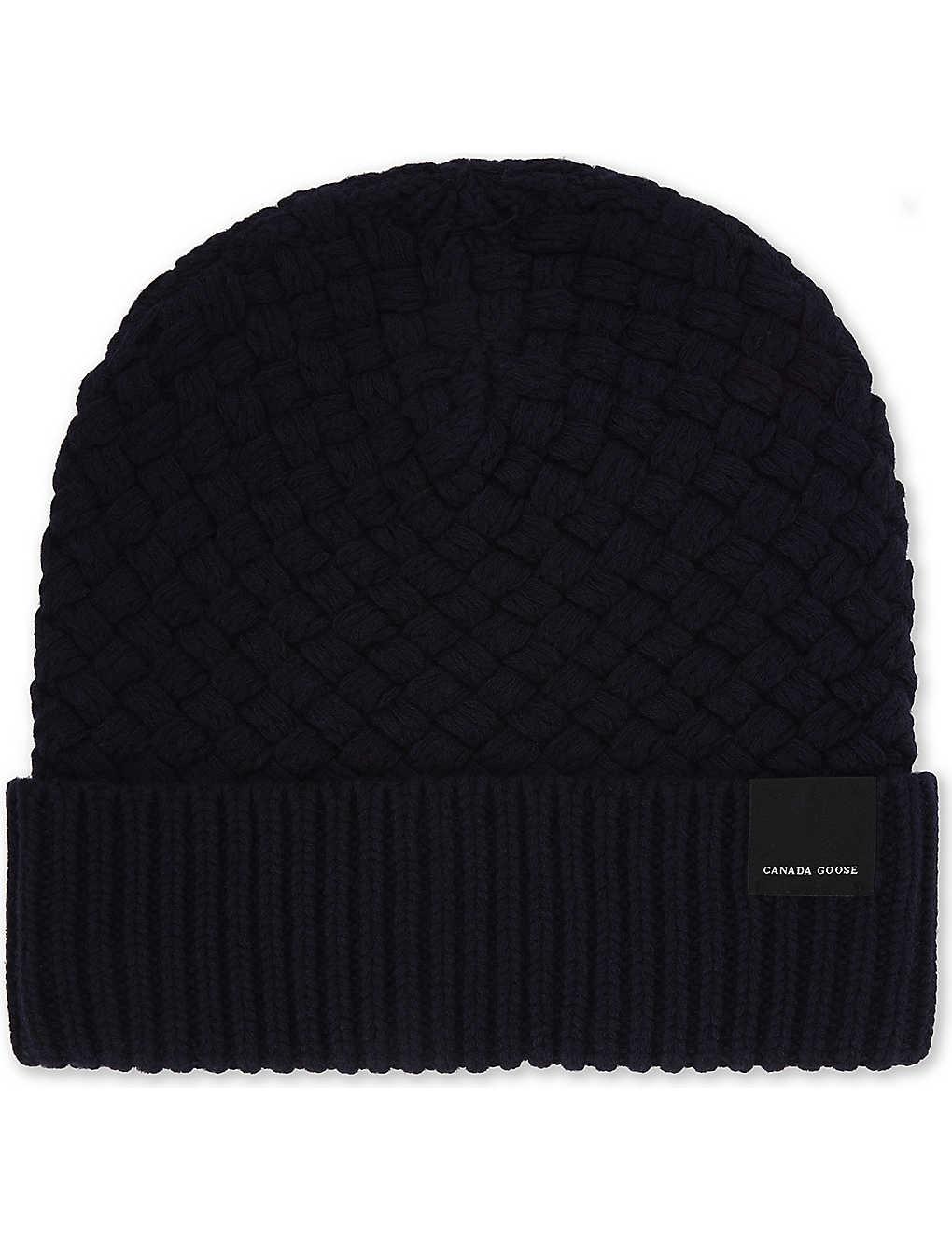 2ce2178a01b75a CANADA GOOSE - Basket stitch wool hat | Selfridges.com
