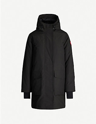 CANADA GOOSE: Canmore hooded feather and shell-down parka