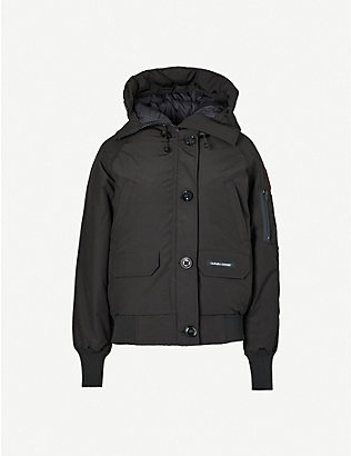 CANADA GOOSE: Chilliwack funnel-neck shell-down bomber jacket