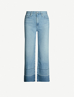 AG Etta cropped wide high-rise jeans