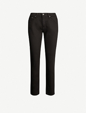 AG Ex-boyfriend slim-fit straight high-rise jeans