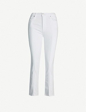 AG Isabelle straight high-rise cropped jeans