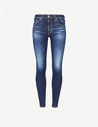 AG: The Legging Ankle super skinny mid-rise jeans