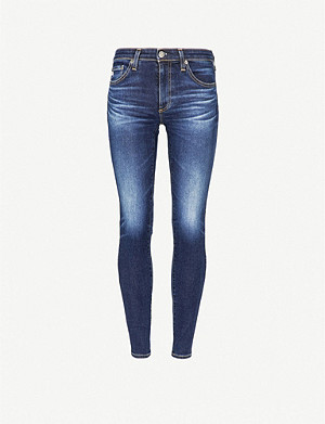 AG The Legging Ankle super skinny mid-rise jeans