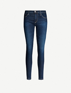 AG The Legging mid-rise faded super skinny jeans