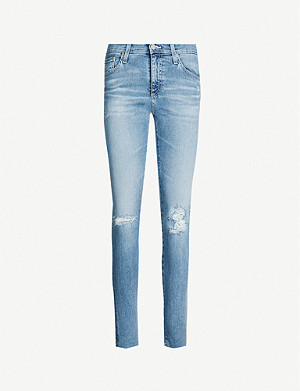 AG Farrah slim-fit high-rise jeans