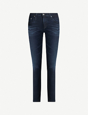 AG Prima cropped cigarette high-rise jeans
