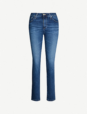 AG Mari high-rise slim-fit straight jeans