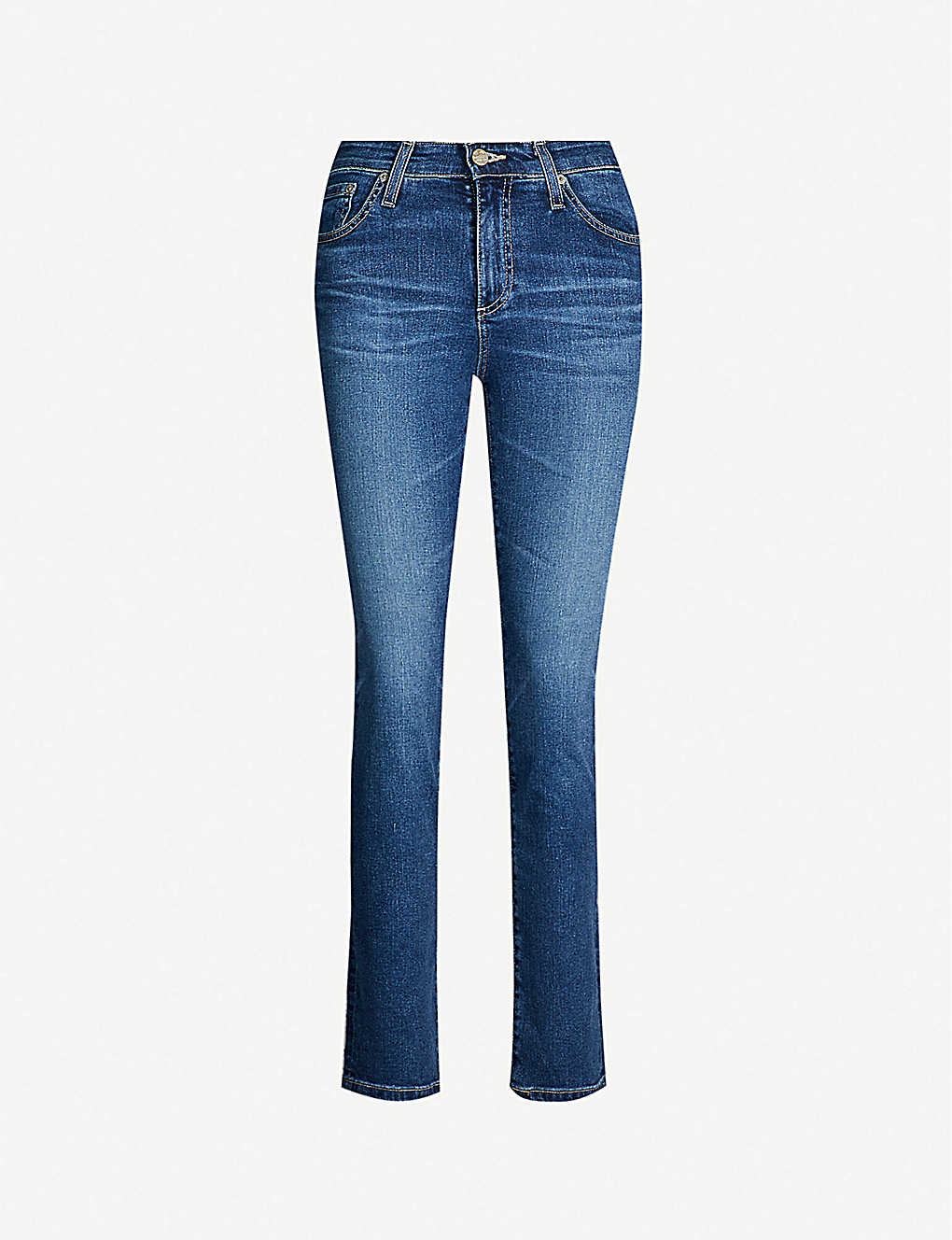 AG: Mari high-rise slim-fit straight jeans