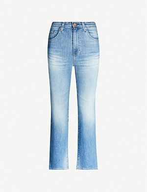 AG Rhett cropped high-rise straight jeans