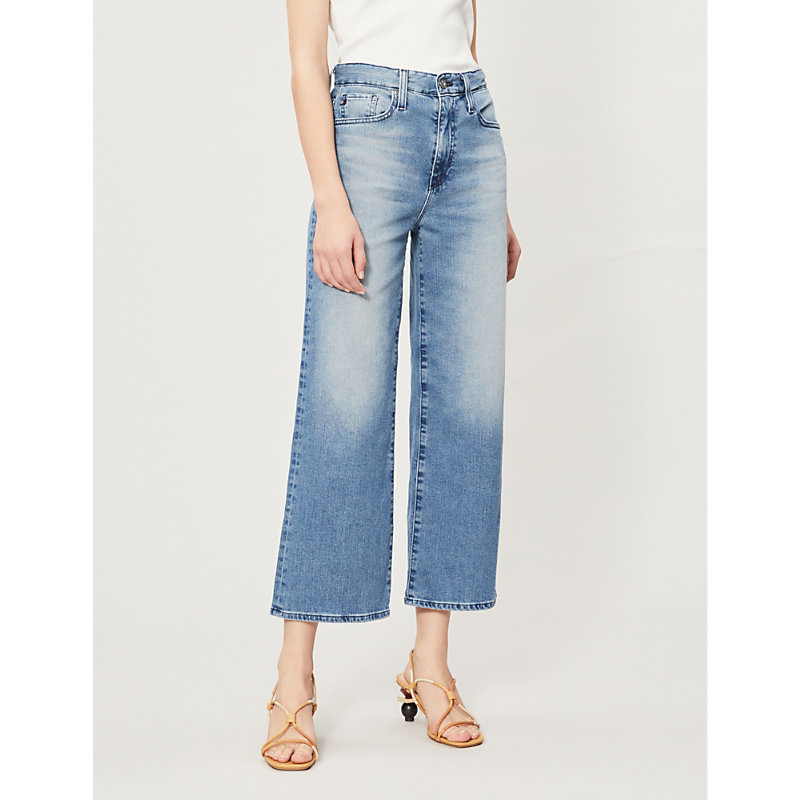 AG JEANS   The Etta High-Rise Straight Cropped Jeans   Goxip