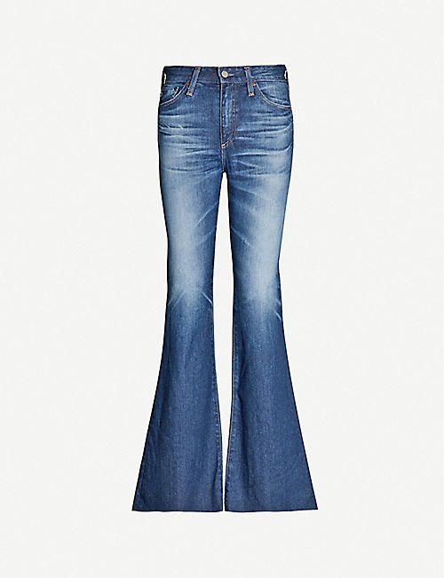 e3a38a1feccc AG Quinne high-rise faded flared jeans