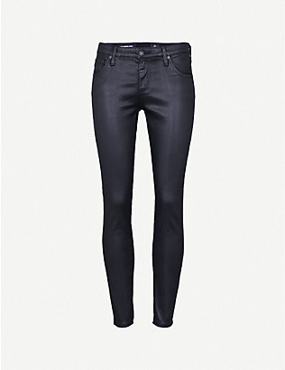 AG: Legging Ankle leather-look super-skinny mid-rise jeans