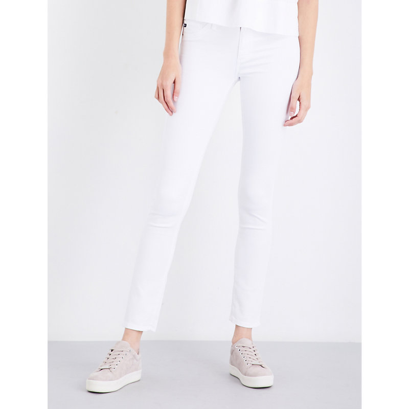 AG JEANS   Ag White Comfortable Prima Cigarette Mid-Rise Jeans, Size: 26   Goxip