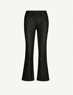 AG Quinne leather-look stretch-cotton jeans