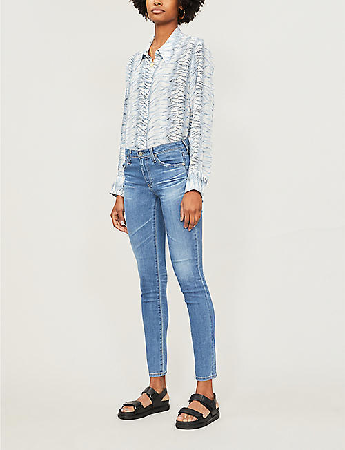 AG Prima Ankle straight mid-rise jeans