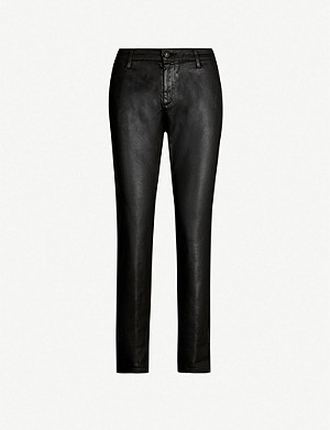 AG The Caden mid-rise skinny cotton-blend trousers