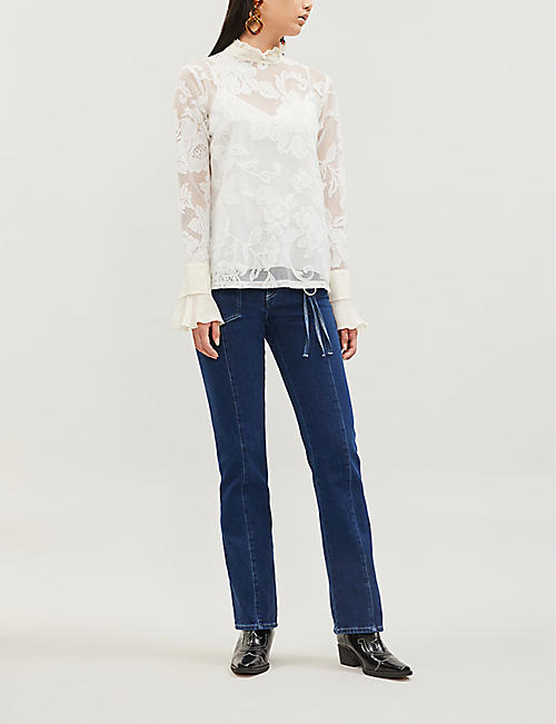 SEE BY CHLOE Floral-pattern lace blouse