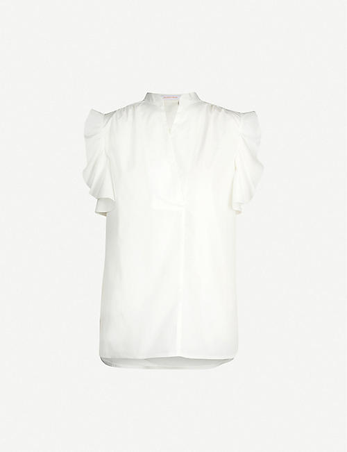 SEE BY CHLOE V-neck sleeveless cotton shirt