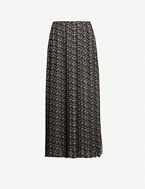 SEE BY CHLOE Floral-print A-line crepe midi skirt