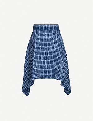 SEE BY CHLOE Checked woven mini skirt