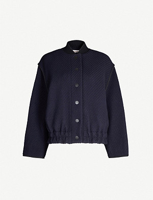 SEE BY CHLOE Textured wool-blend bomber jacket