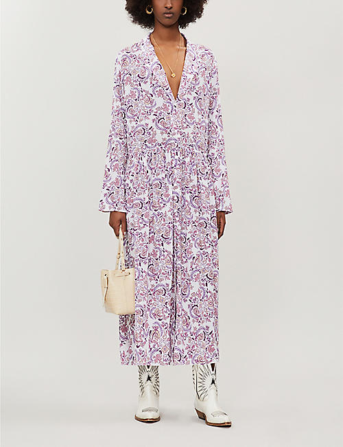 SEE BY CHLOE Floral-print loose-fit crepe midi dress