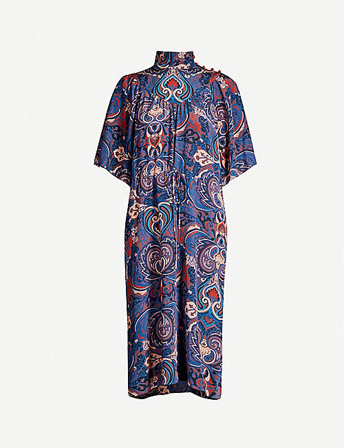 SEE BY CHLOE High-neck paisley-print silk midi dress