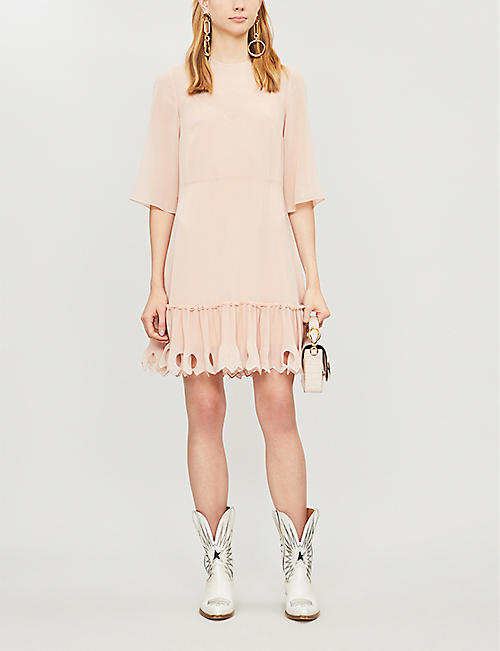 SEE BY CHLOE Scalloped crepe dress
