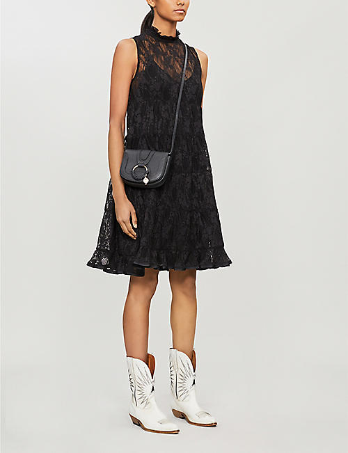 SEE BY CHLOE High-neck sleeveless floral-lace mini dress
