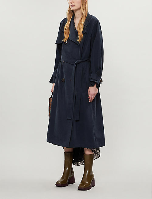 SEE BY CHLOE Double-breasted lyocell-blend trench coat