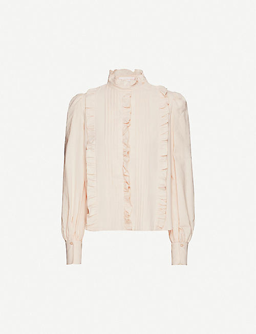 SEE BY CHLOE Ruffle cotton shirt