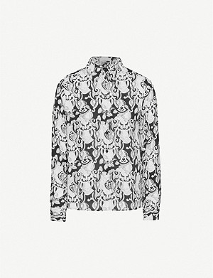 SEE BY CHLOE Graphic-print relaxed crepe shirt