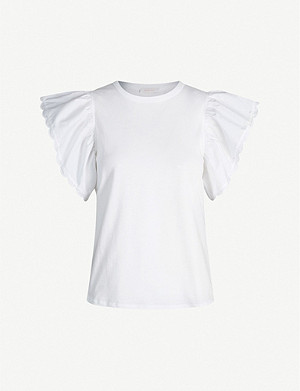 SEE BY CHLOE Flared-sleeve cotton T-shirt