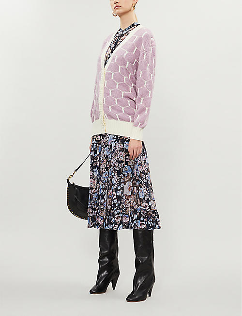 SEE BY CHLOE Geometric-print knitted cardigan