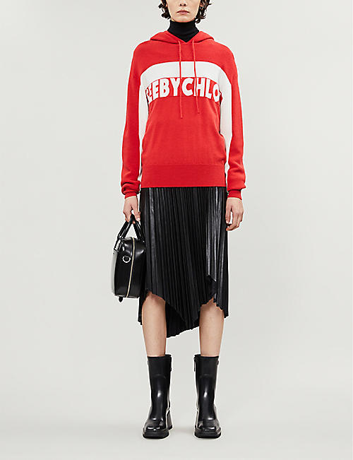 SEE BY CHLOE Branded hooded knitted hoody