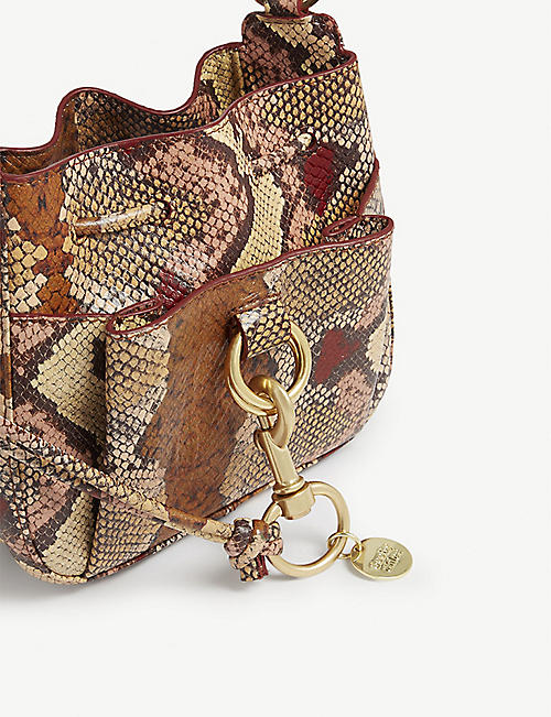 SEE BY CHLOE Tony snake-effect leather shoulder bag