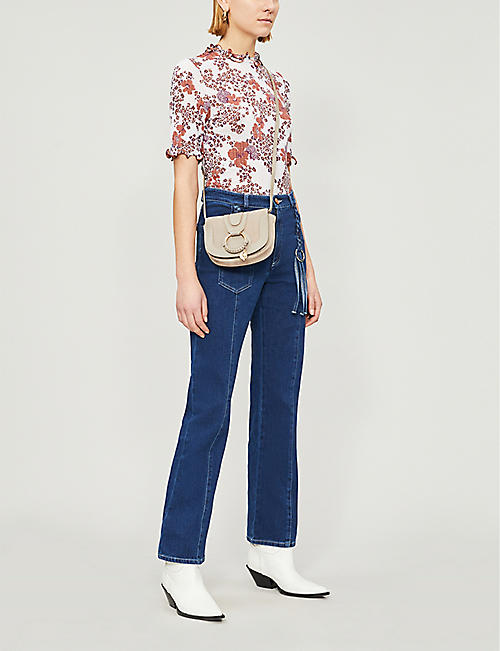 SEE BY CHLOE Plait detail straight high-rise jeans