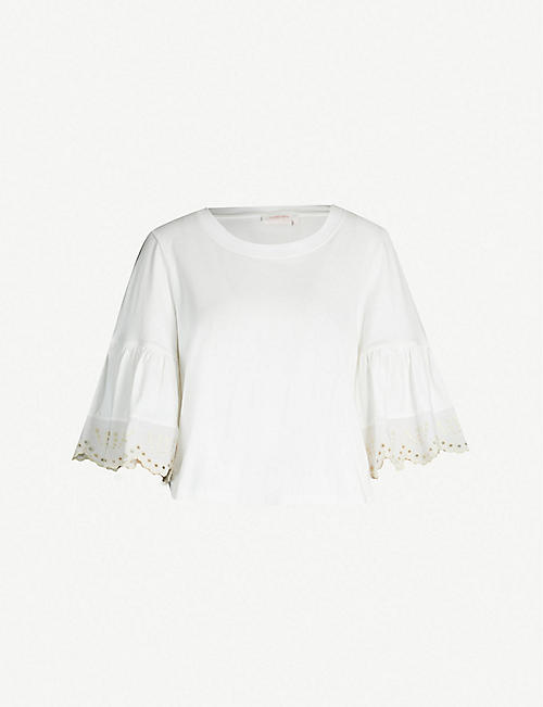 09ec99938c SEE BY CHLOE Flared-sleeves cotton-jersey top