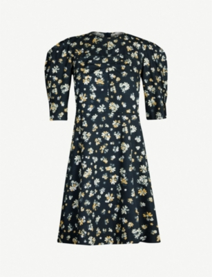 SEE BY CHLOE Floral-print cropped-sleeve cotton dress