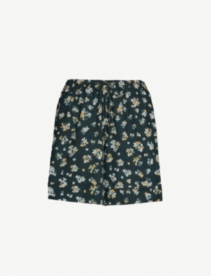 SEE BY CHLOE Floral-print drawstring-waist cotton shorts