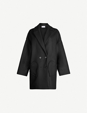 RED VALENTINO Double-breasted wool-blend jacket