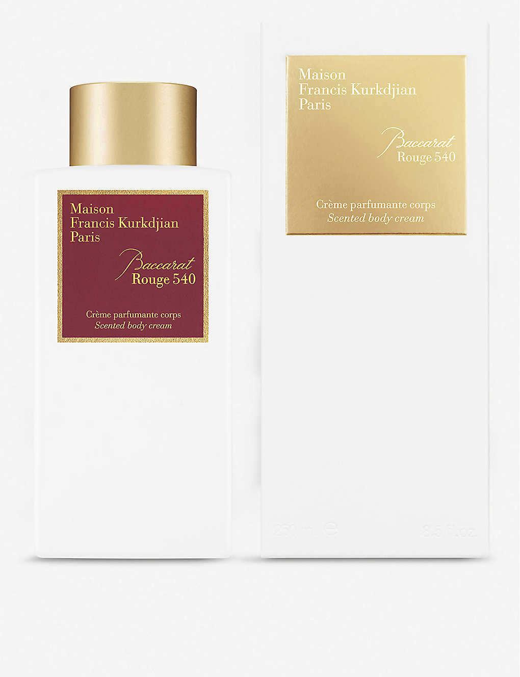 MAISON FRANCIS KURKDJIAN: Baccarat Rouge 540 body cream 250ml