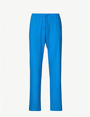 DEREK ROSE: Basel relaxed-fit straight jersey trousers