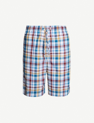 DEREK ROSE Barker checked cotton pyjama shorts