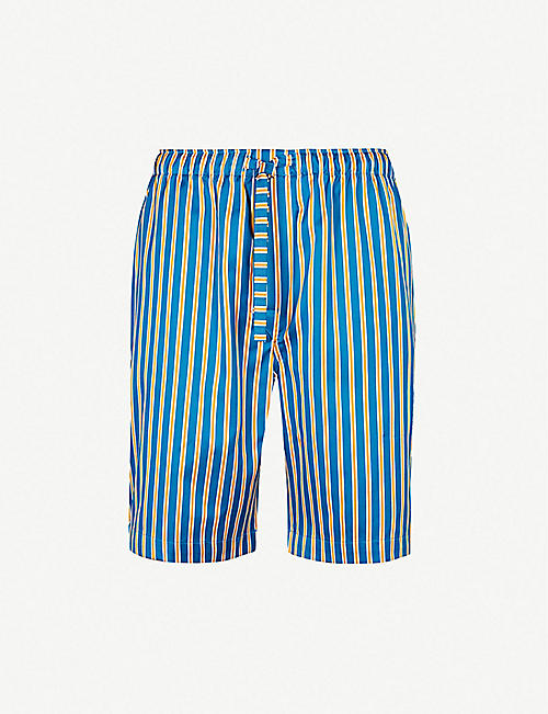 DEREK ROSE Elite striped relaxed-fit cotton shorts