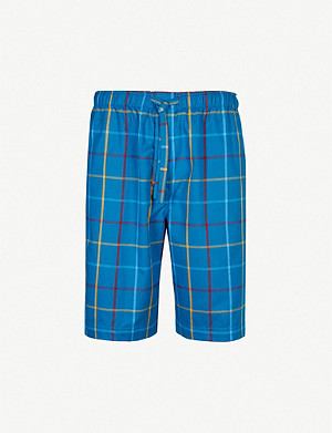 DEREK ROSE Ranga relaxed-fit cotton pyjama shorts